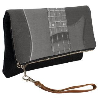 Music Gray Bass Guitar Strings Clutch