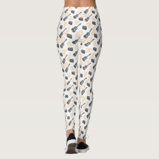 Music Guitar Radio Pattern Custom Leggings