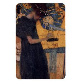 Music - Gustav Klimt Rectangular Photo Magnet