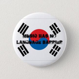 Music Has No Language Barrier 2 Inch Round Button
