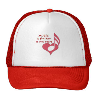 Music hat with heart and note