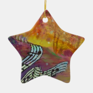 Music have strange connection to nature. ceramic ornament