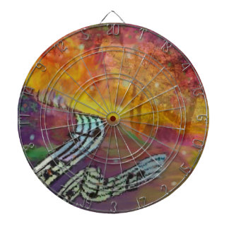 Music have strange connection to nature. dartboard