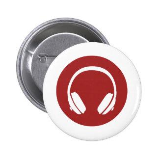 Music Headphones 2 Inch Round Button