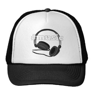 #Music Headphones Digital Art Graphic Trucker Hat