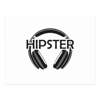 Music Headphones Hipster Postcard