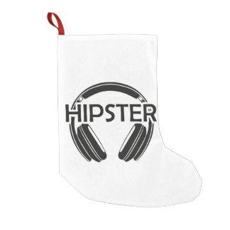 Music Headphones Hipster Small Christmas Stocking