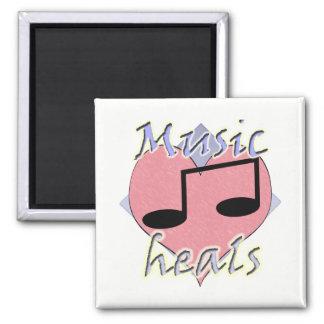 Music Heals Square Magnet