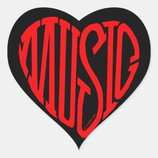 Music Heart Heart Sticker