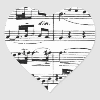 Music Heart Sticker