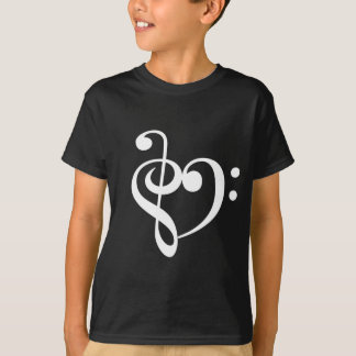 Music Heart White T-Shirt