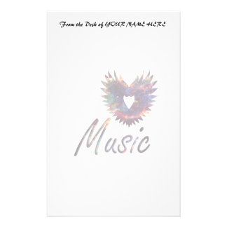 Music heart wing below nebula 1 stationery