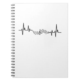 Music Heartbea musical player Gift Notebooks