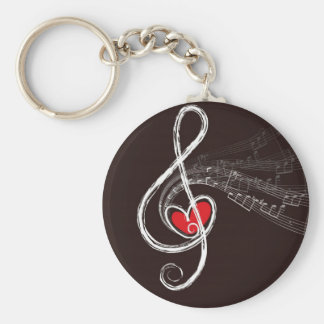 Music Hearts Keychain