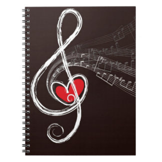 Music Hearts Notebook