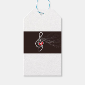 Music Hearts Pack Of Gift Tags