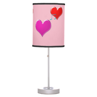 music hearts table lamp