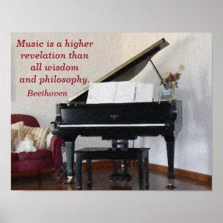 Music Higher Revelation -- Art print - Beethoven
