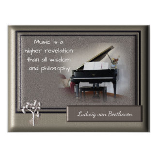 Music Higher Revelation _Beethoven quote - Print