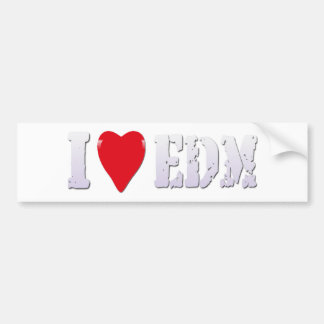 Music I Heart EDM (Club Sound Music) -Sticker Bumper Sticker