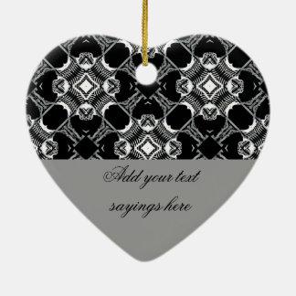 Music I Sing,Music I Love_ Ceramic Heart Ornament