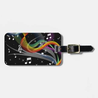 Music Illustration custom luggage tag