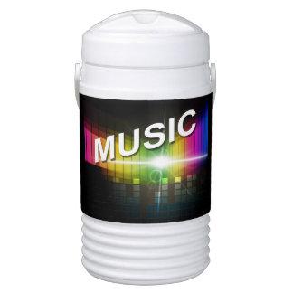 Music Illustration custom monogram beverage cooler