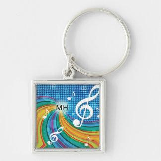 Music Illustration custom monogram key chains