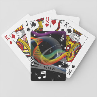 Music Illustration custom monogram playing cards