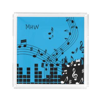 Music Illustration custom monogram trays