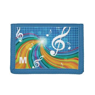 Music Illustration custom monogram wallets