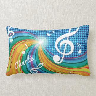 Music Illustration custom name throw pillows