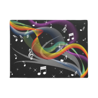 Music Illustration door mat