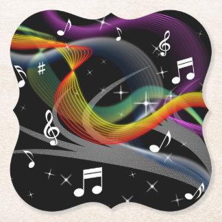 Music Illustration paper coasters