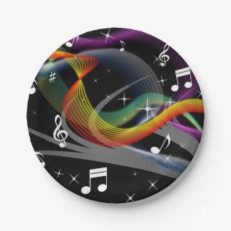 Music Illustration paper plates