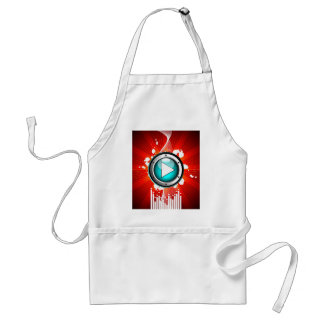 music illustration with play button standard apron