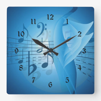 Music in Blue Clock