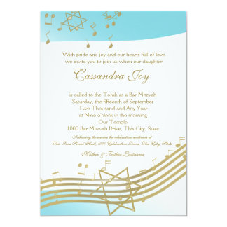 Music in the Air Bat Mitzvah Card