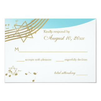 Music in the Air Bat Mitzvah Response Card