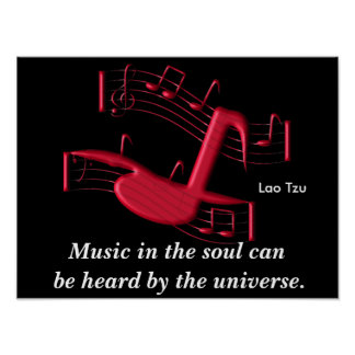 Music in the soul - art poster