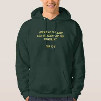 Music in the soul hooded sweatshirts