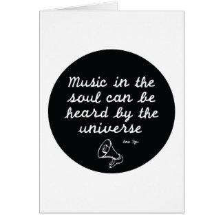Music in the soul - Lao Tzu Card