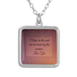 Music in the soul silver plated necklace