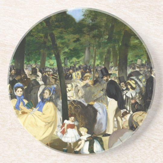 Music in the Tuileries by Edouard Manet Coaster