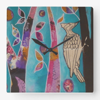 Music in the World - Woodpecker Square Wall Clock