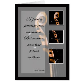 Music Inspiration Cello or Bass Card