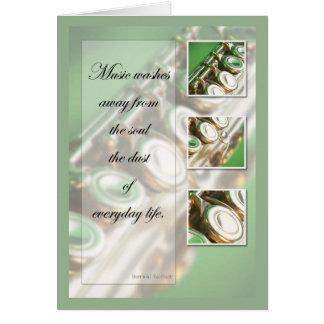 Music Inspiration Flute Card