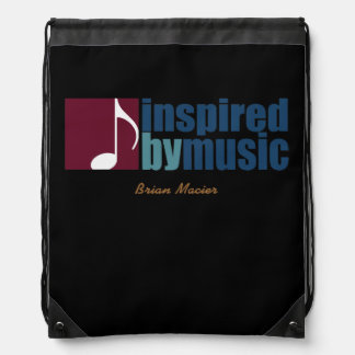 music inspired personalized drawstring bag
