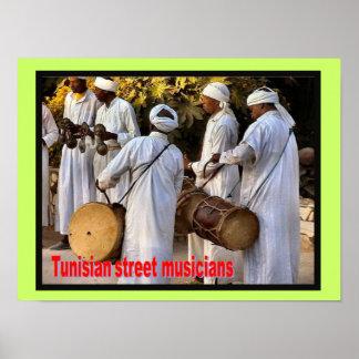 Music, instruments, Tunisian Street musicians Poster
