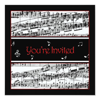 Music Invitation - Optional Uses